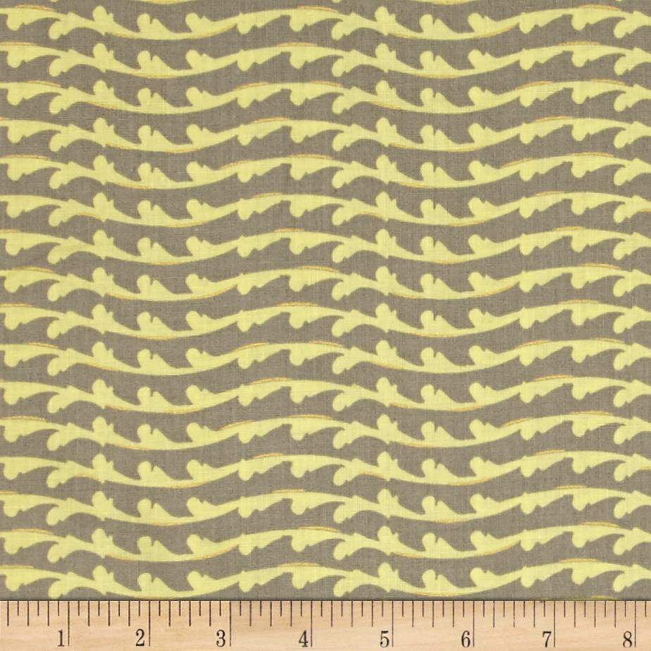 Fairmount Park Metallic Flourish Stripe Green Taupe