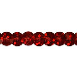 6mm Slung String Sequin Trim Roll Red
