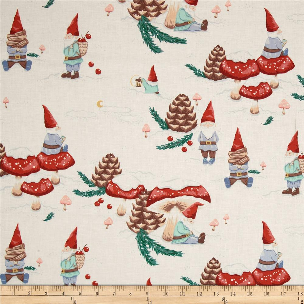 Christmas Time Gnomes in the Snow Vintage Tea
