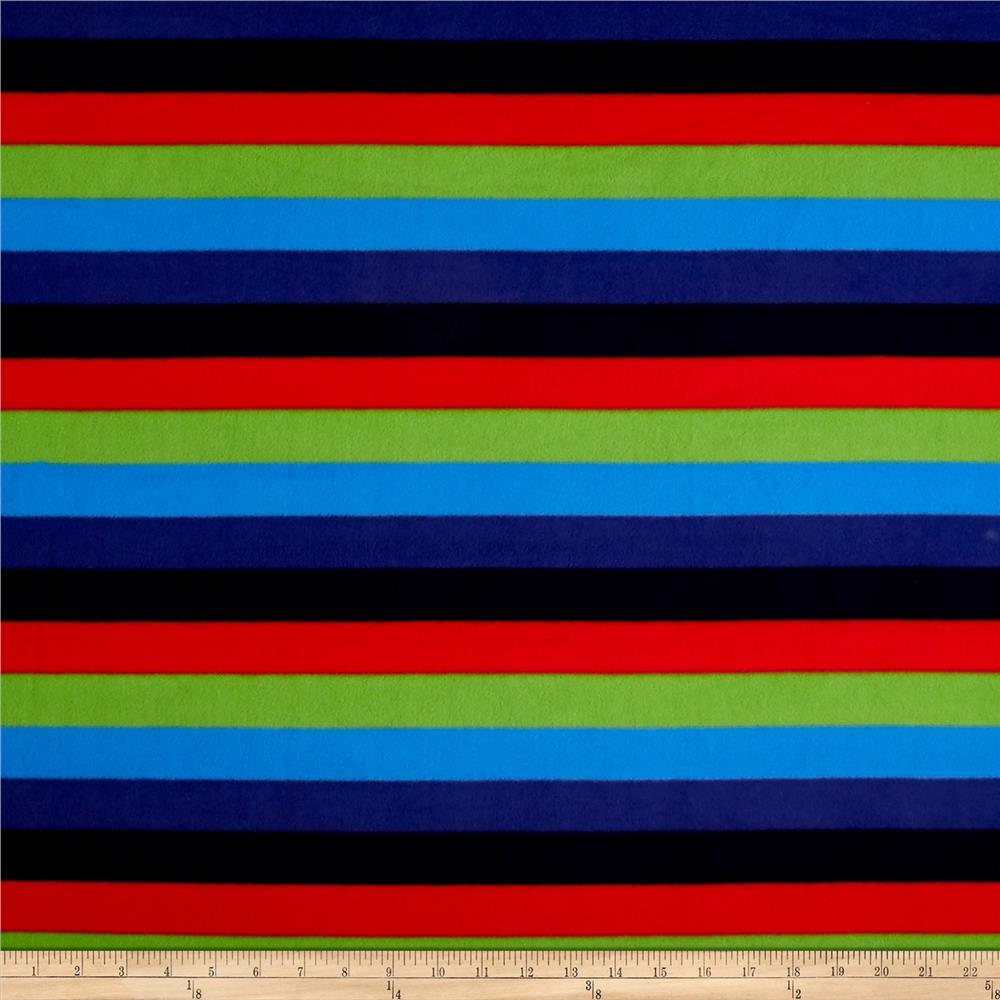 Polar Fleece Stripes Multi Fabric