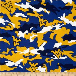 West Virginia University Cotton Camouflage Blue/Yellow