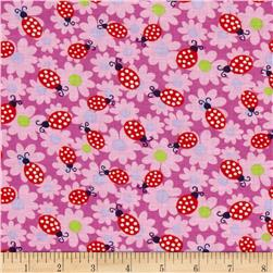 Newcastle Novelties Ladybug Fuchsia Fabric