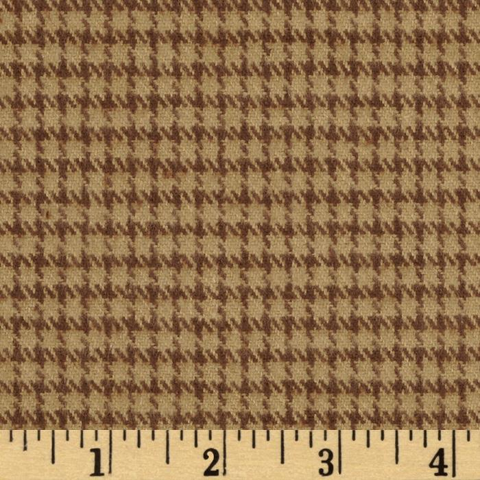 Primo Plaids Flannel Yarn Dyed Houndstooth Large Brown