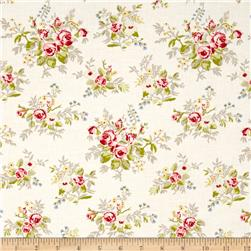 Moda Windermere Prints Garden Cuttings Linen White