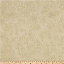 110'' Wide Quilt Backing Scroll Cream