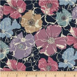Liberty of London Tana Lawn Poppy Rose Navy