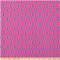 Kaufman Laguna Stretch Jersey Knit Circles Pink
