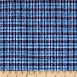 Yarn Dyed Flannel Plaid Blue