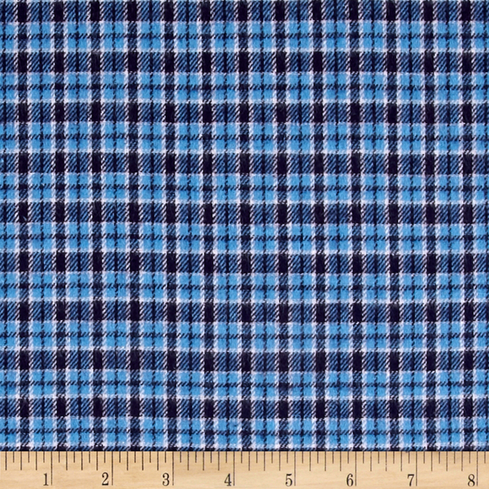 Yarn Dyed Flannel Plaid Blue Fabric Style 427085 by Newcastle in USA