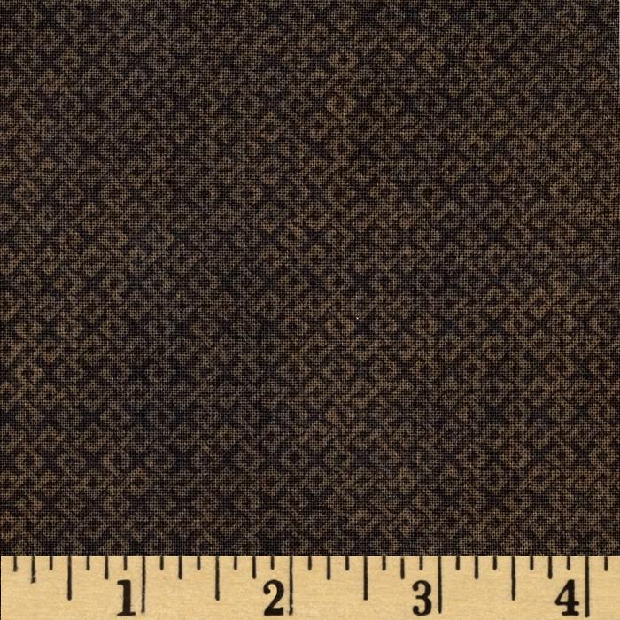 "108"" Wide Essentials Quilt Backing Criss Cross Dark Brown"