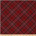Tailormade Flannels Diagonal Plaid Red