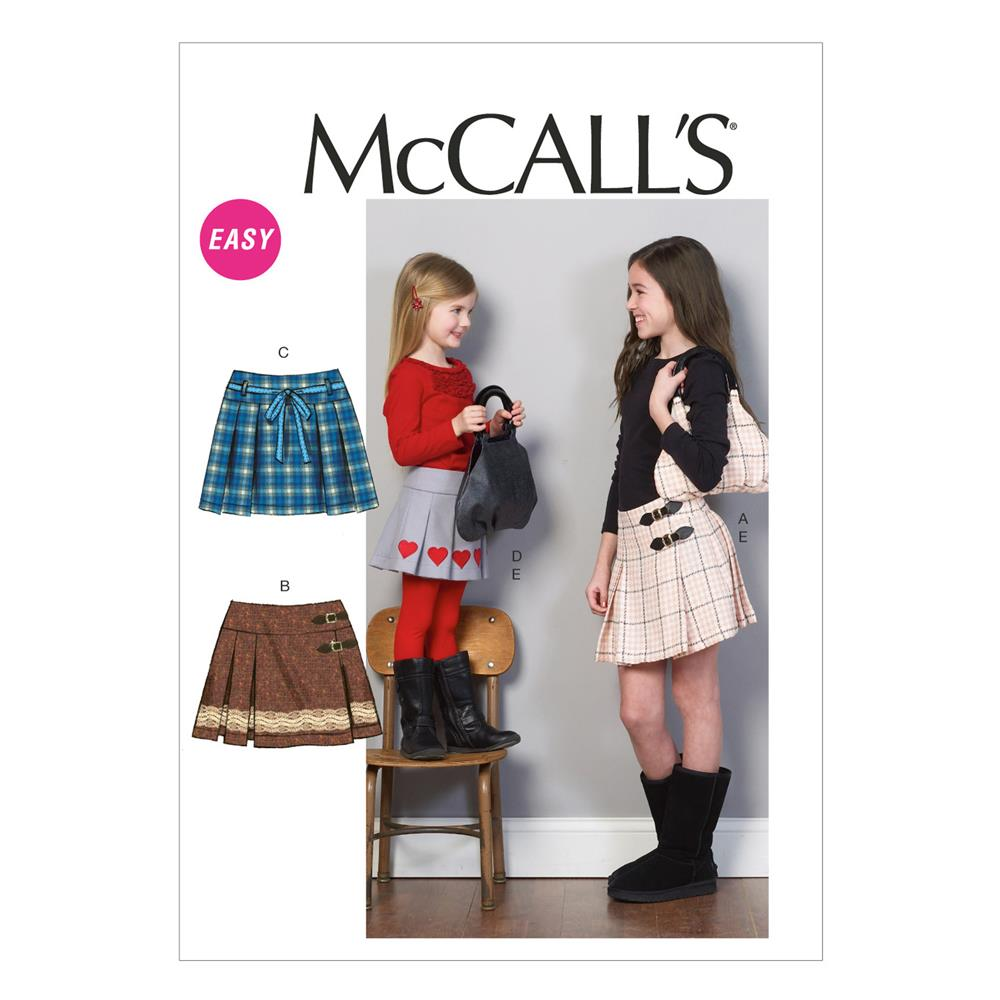 McCall's Children's/Girls' Skirts and Purse Pattern M6784 Size CCE