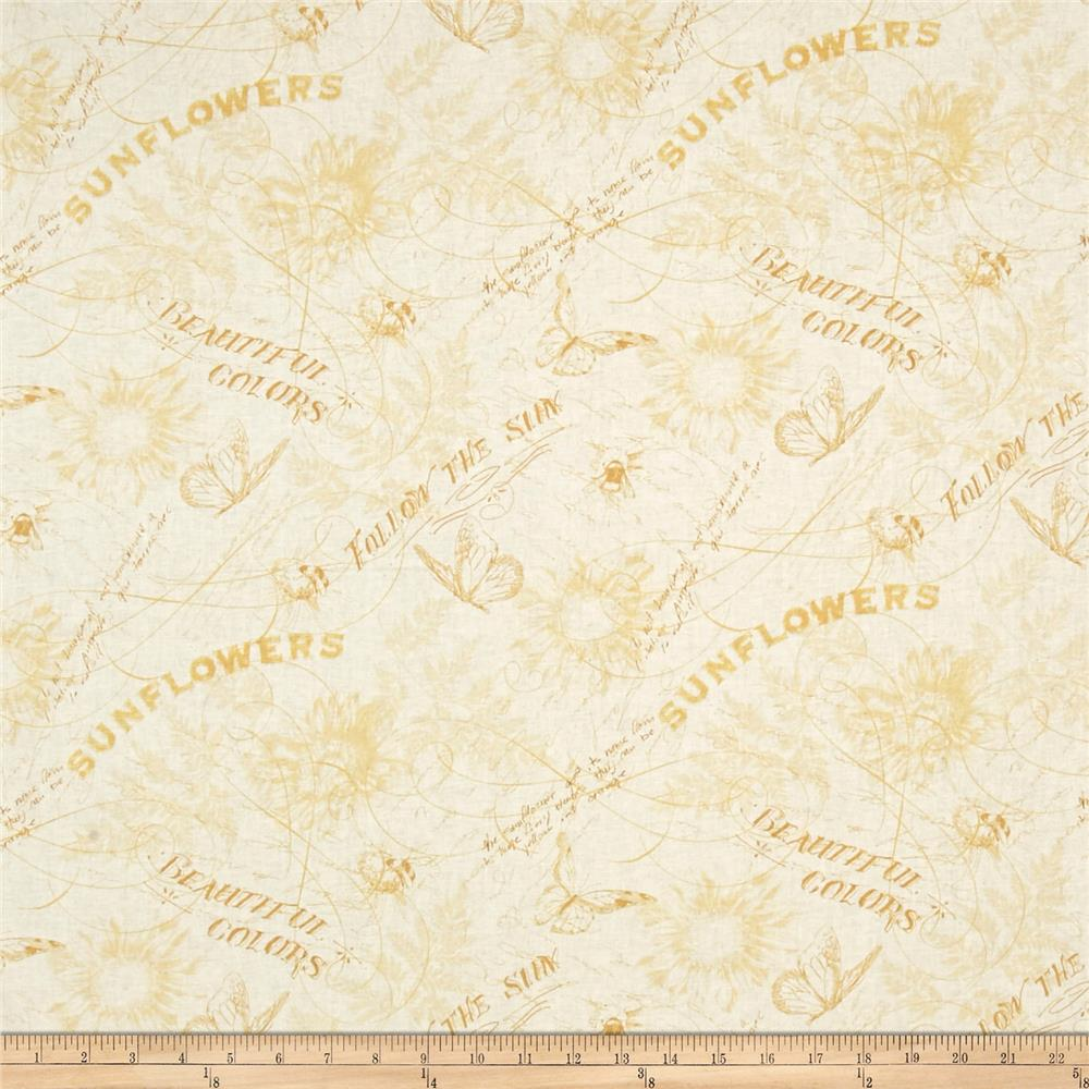 Follow the Sun Toile Cream/Yellow