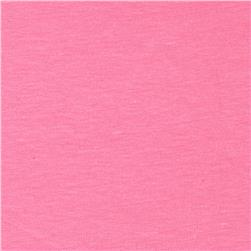 Cotton Spandex Jersey Knit Solid Pink Sherbet
