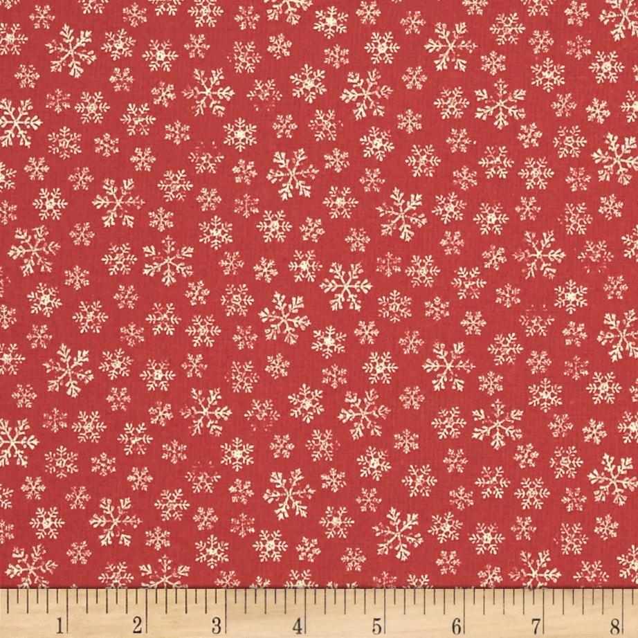 Moda Joyeux Noel Flocon Faded Red