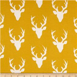 Art Gallery Jersey Knit Buck Forest Mustard