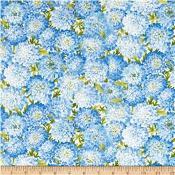 Moda Summer Breeze IV Dahlias Light Blue