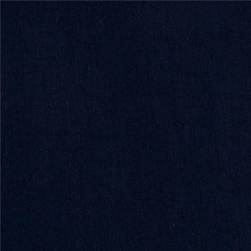 Soft Spun Poly Jersey Knit Navy