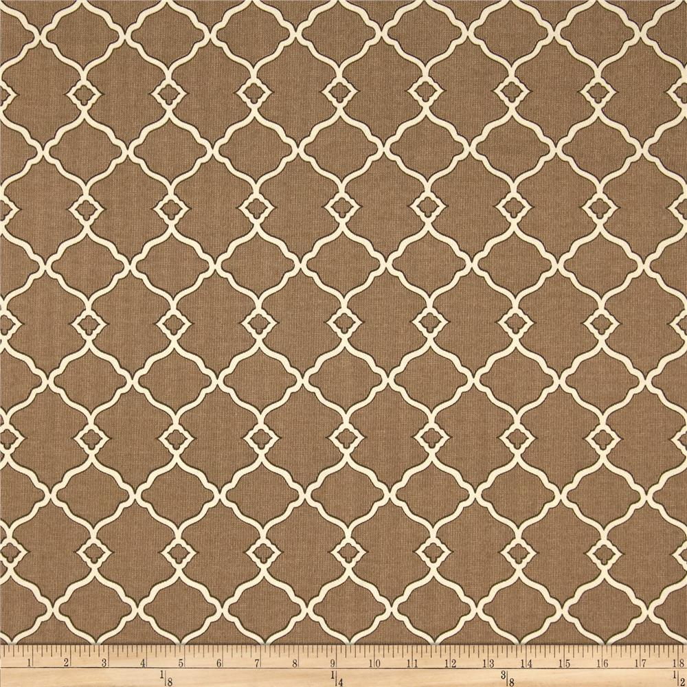 Waverly Sun N Shade Chippendale Fretwork Mocha