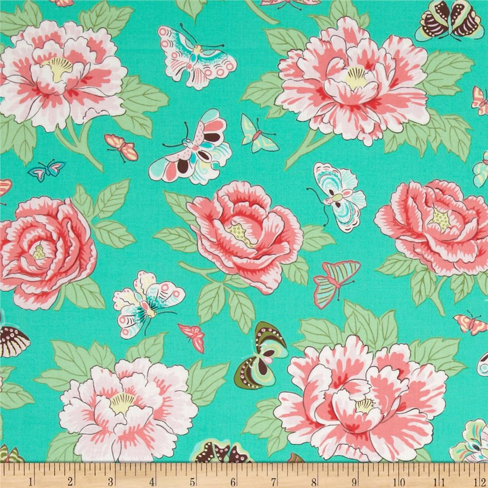 Snow Leopard Designs Floating World Peoni and Butterflies Sorbet