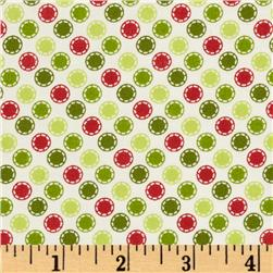 Kimberbell's Merry & Bright Stitched Dots White
