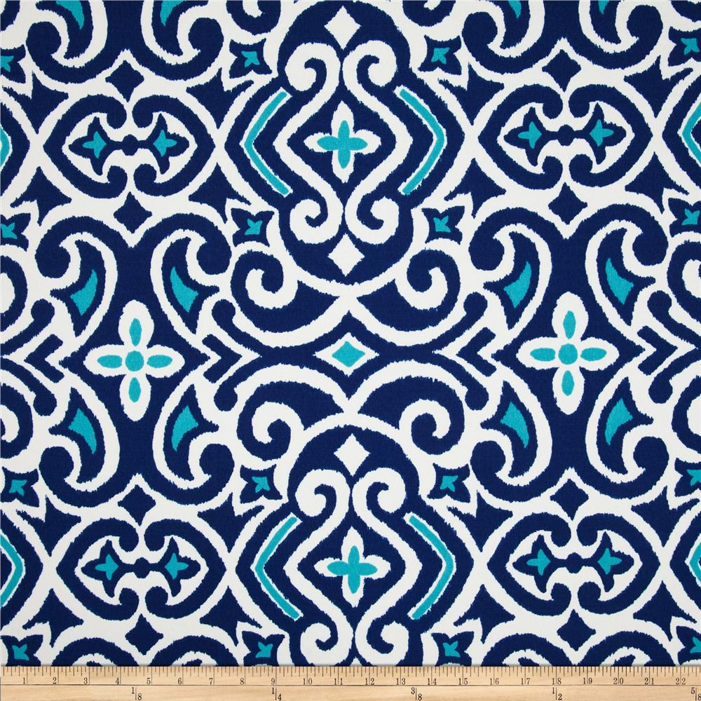 Robert Allen @ Home Indoor/Outdoor Baja Damask Marine