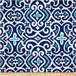 Robert Allen Indoor/Outdoor Baja Damask Marine