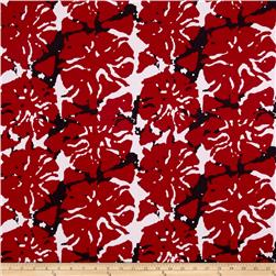 Jersey Knit Ink Blot Red