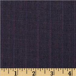 Stretch Herringbone Suiting Plum