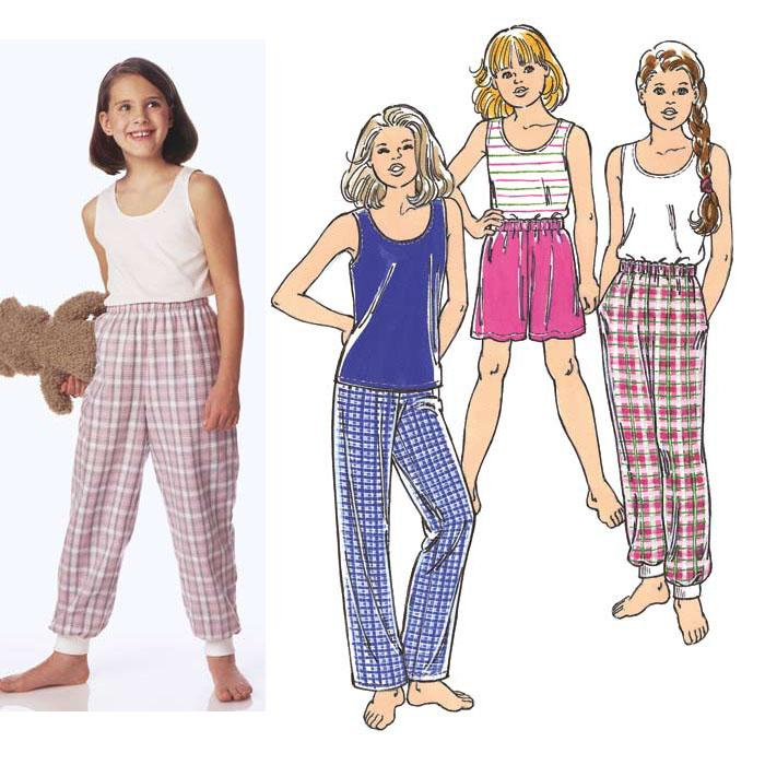 Kwik Sew  Pull-On Sleep Pants, Shorts & Camisole Pattern