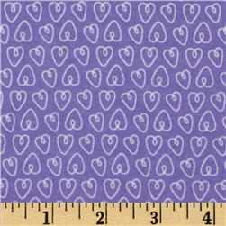 Michael Miller Baby Flannel Petite Hearts Purp