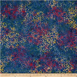 Batik Central Java Leaf Vine Blue