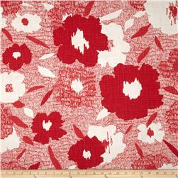 Dwell Studio Carys Floral Slub Poppy Fabric