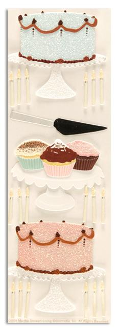 Martha Stewart Crafts Cake Baking Stickers