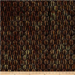 Batavian Batiks Palm Texture Black/Brown