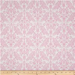 Riley Blake Medium Damask White/Baby Pink
