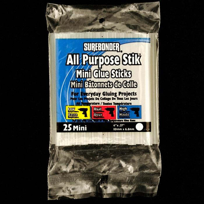 Surebonder All Purpose Stik Mini Glue Sticks 25/PKG