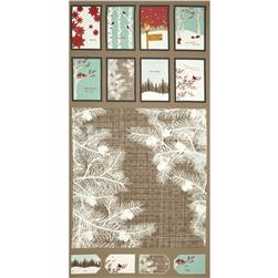 Moda Winter's Lane Holiday Panel Grey