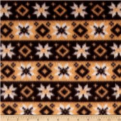 Fleece Print Nordic Star Brown
