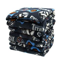 Three Pound NFL Fleece Remnant Bundle Tennessee Titans