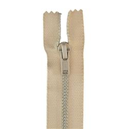 "Metal All Purpose Zipper 18"" Ecru"