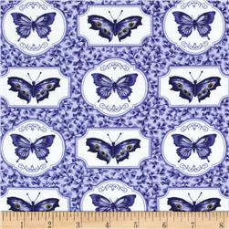 Botanical Blues Butterflies Blue