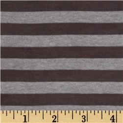 Heather Stripe Hatchi Sweater Knit Dark Brown/Grey