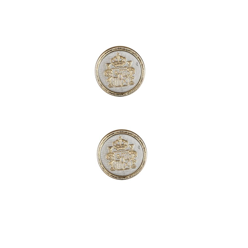 Dill Buttons 5/8'' Full Metal Button Gold