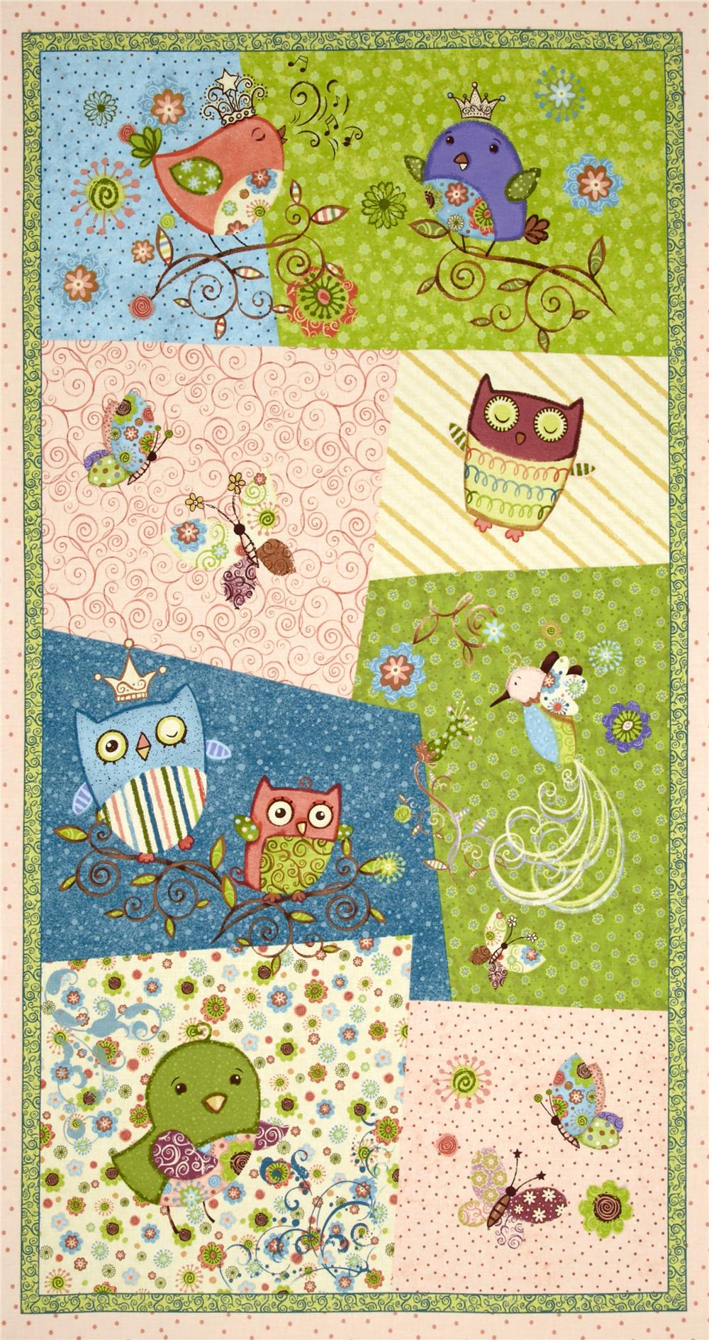 Nighty Night Owl Craft Panel Green