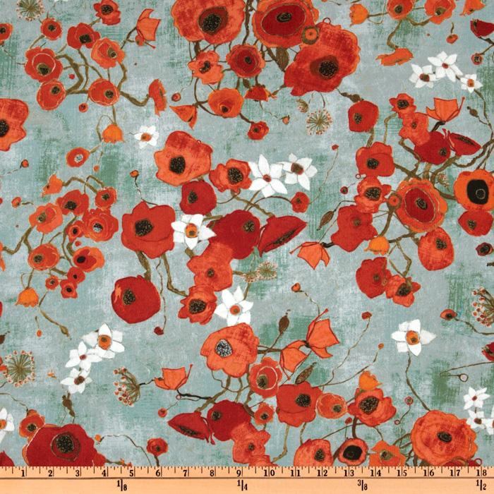 Gallery Fiori Posies Red Teal
