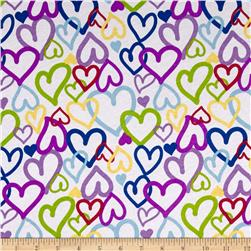 Children's Cotton Jersey Knit Hearts