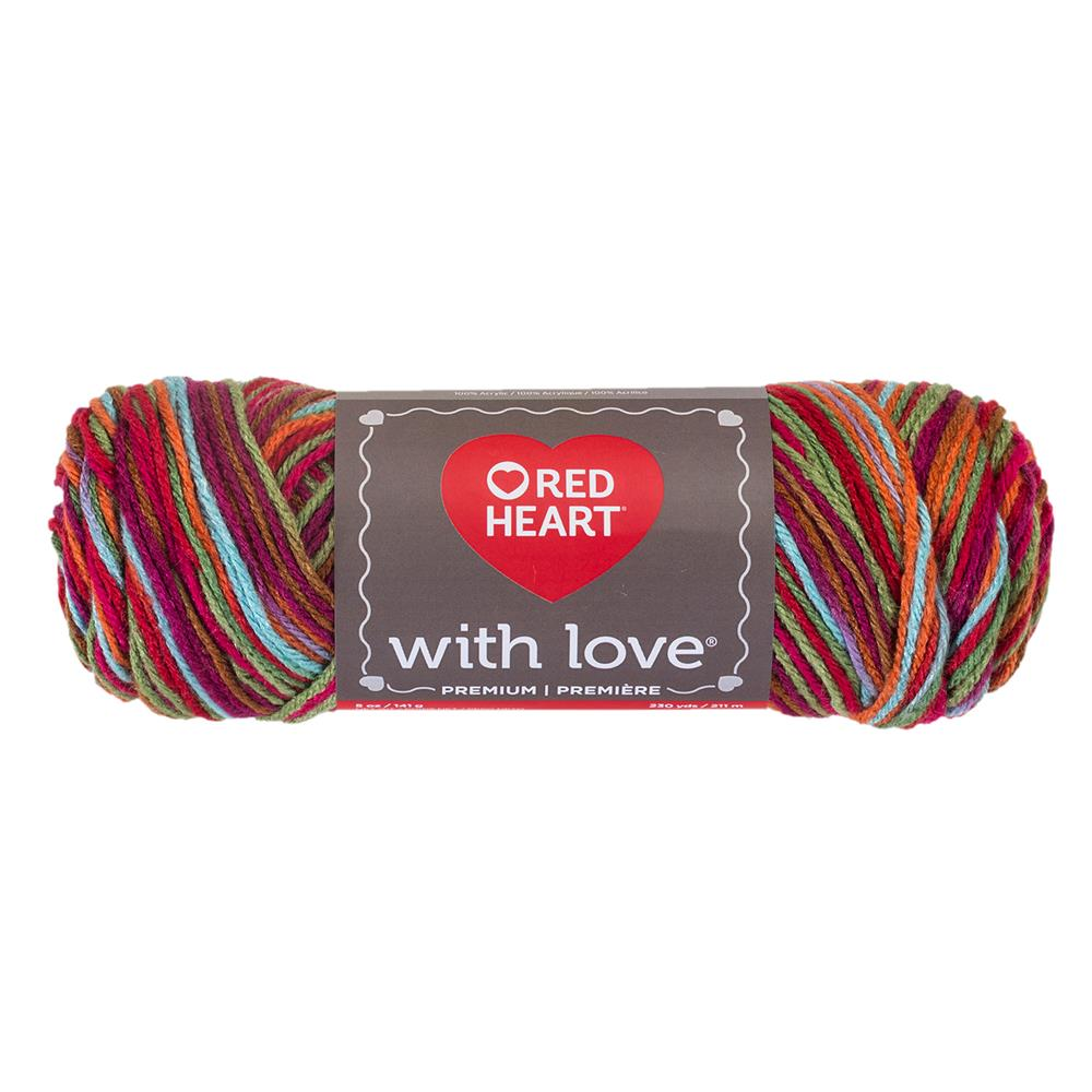 Red Heart Yarn With Love Variegated 1944 Fruit Punch Discount