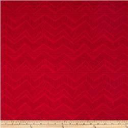 Timeless Treasures Apple of My Eye Matilde Abstract Chevron Red