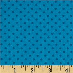 Flannel Small Dot on Teal Tonal